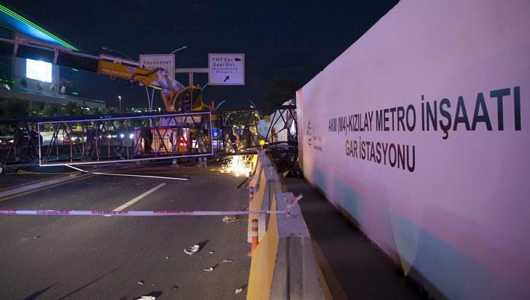metro istasyonu inşaatında kaza