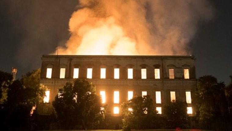 brezilya ulusal müze yangını