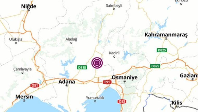 Adana'da 4.3 büyüklüğünde deprem meydana geldi!