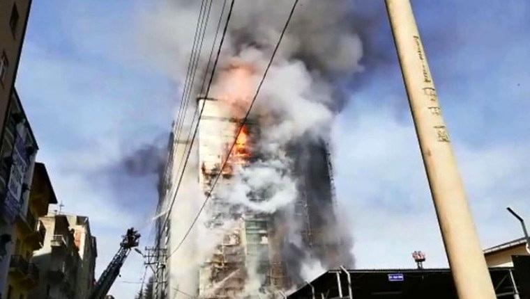 Trabzon'da Avrasya Üniversitesi'nde büyük yangın!