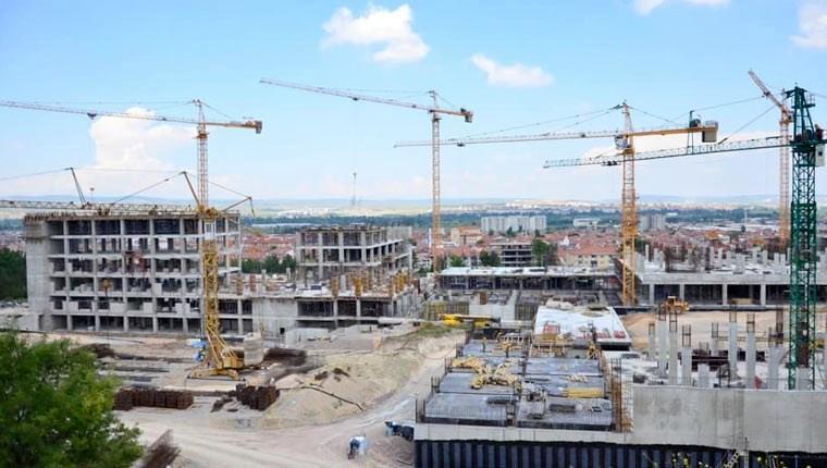 Kütahya Şehir Hastanesi inşaatı hızla ilerliyor