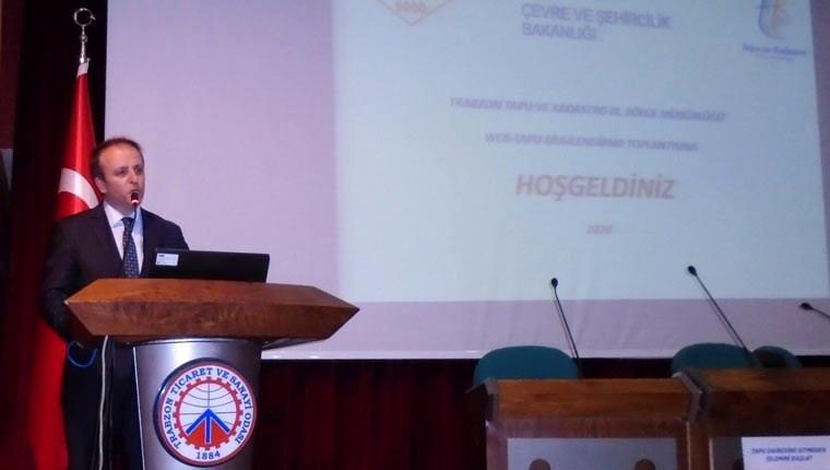 Trabzon'da emlakçılara 'Web-Tapu'yu anlattılar