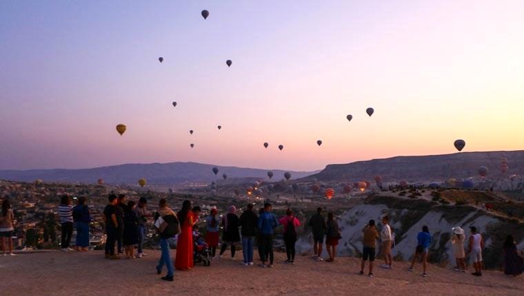 Kapadokya bölgesini Ağustos ayında 158 bin 800 turist ziyaret etti