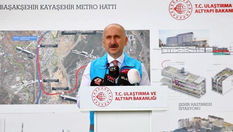 Ulaştırma ve Altyapı Bakanı Adil Karaismailoğlu Başakşehir-Kayaşehir Metro Hattı