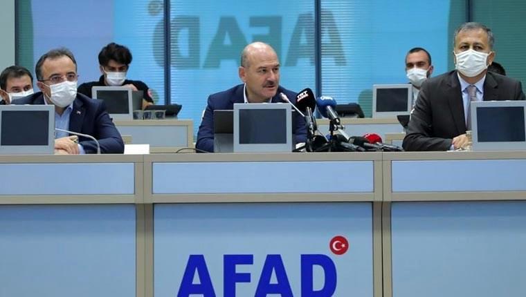 İçişleri Bakanı Süleyman Soylu, İstanbul Afet Koordinasyon ve Değerlendirme Toplantısı afad