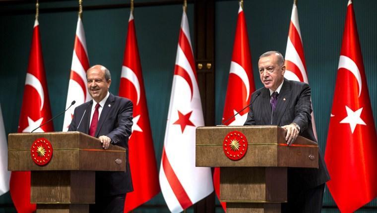 Cumhurbaşkanı Recep Tayyip Erdoğan, Kuzey Kıbrıs Türk Cumhuriyeti Başbakanı Ersin Tatar