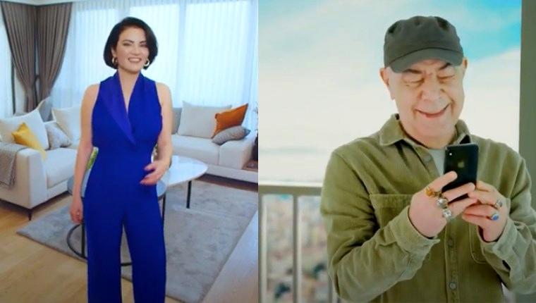 ataşehir modern reklam filminde oynayan mazhar alanson ve göksel