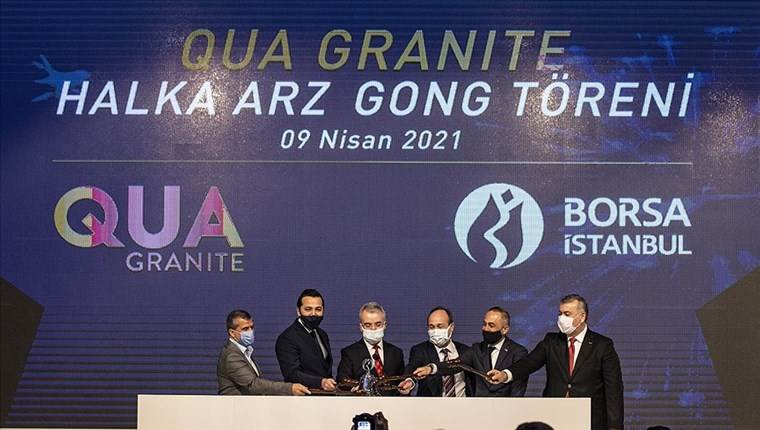 Borsa İstanbul'da gong Qua Granite için çaldı!