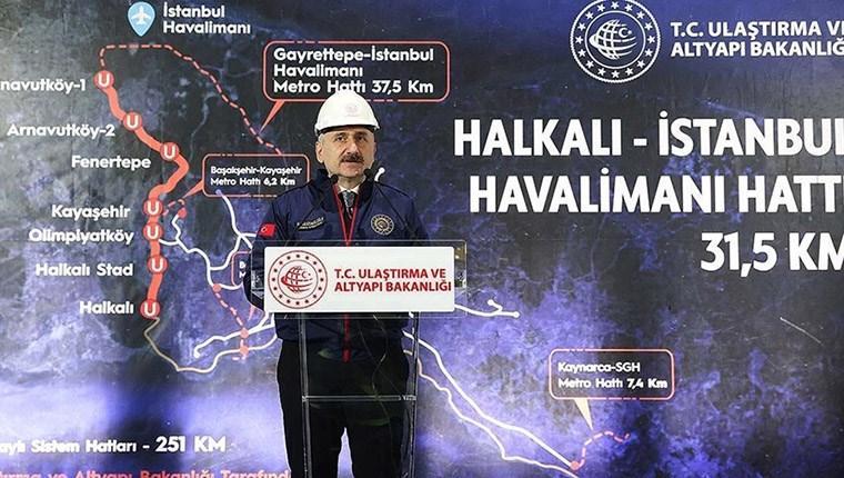 İstanbul'daki 7 metro hattı 2023'te tamamlanacak