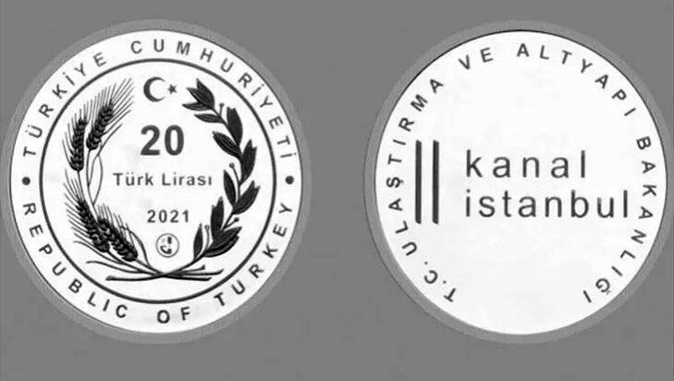 Kanal İstanbul için hatıra paraları basıldı