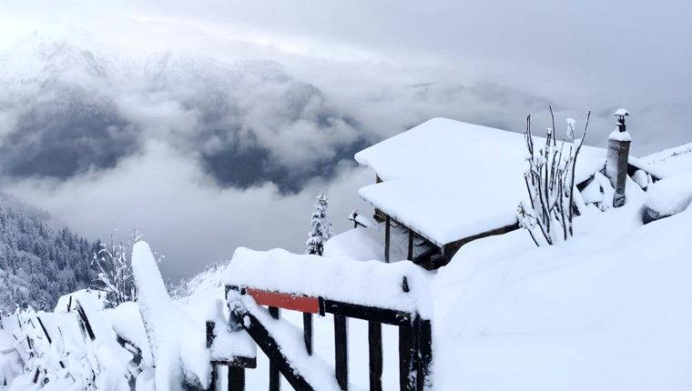 Kaçkar Dağları Milli Parkı karlarla kaplandı