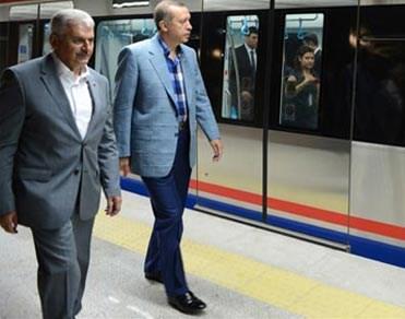 Marmaray'ın Recep Tayyip Erdoğan ile ilk test sürüşü