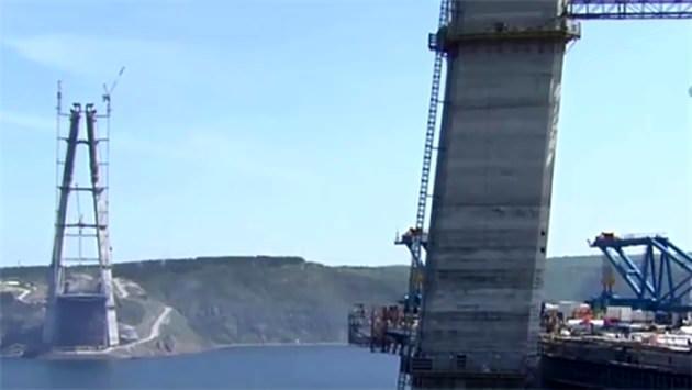 3. köprünün Asya yakası kısmına 2. çelik tabliye de yerleştiriliyor!