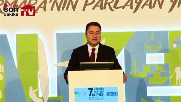 Ali Babacan: Gayrimenkule gölge etmeyin!