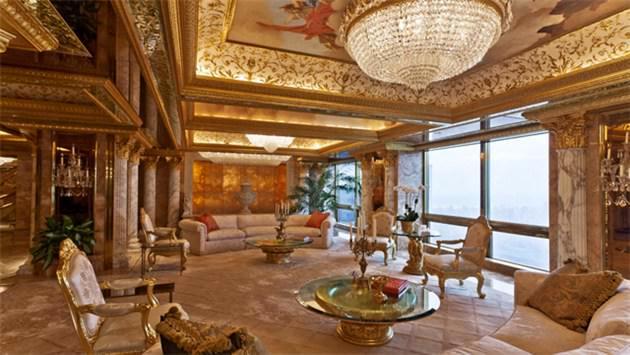 Donald Trump işte bu evde yaşıyor!