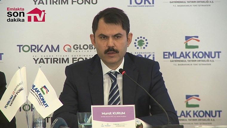 Murat Kurum Emlak Konut'un 2017-18 yılını özetledi