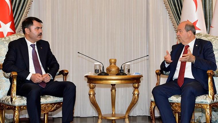 KKTC Cumhurbaşkanı Tatar, Türkiye Çevre ve Şehircilik Bakanı Kurum'u kabul etti