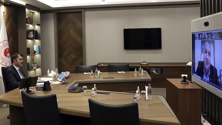 Bakan Kurum, İzmir Ticaret Odası Meclis Toplantısı'na video konferans ile katıldı