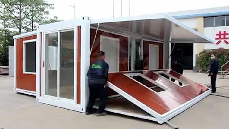 Katlanabilir konteyner ev!