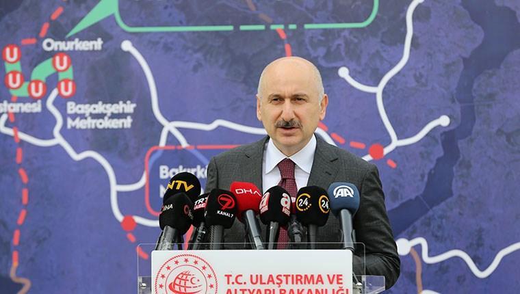 """""""Başakşehir metro hattı projemizi yıl sonunda hizmete sunmayı planlıyoruz"""""""