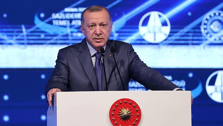"""Cumhurbaşkanı Erdoğan: """"Bugün Türkiye'nin kalkınma tarihinde yeni bir sayfa açıyoruz"""""""