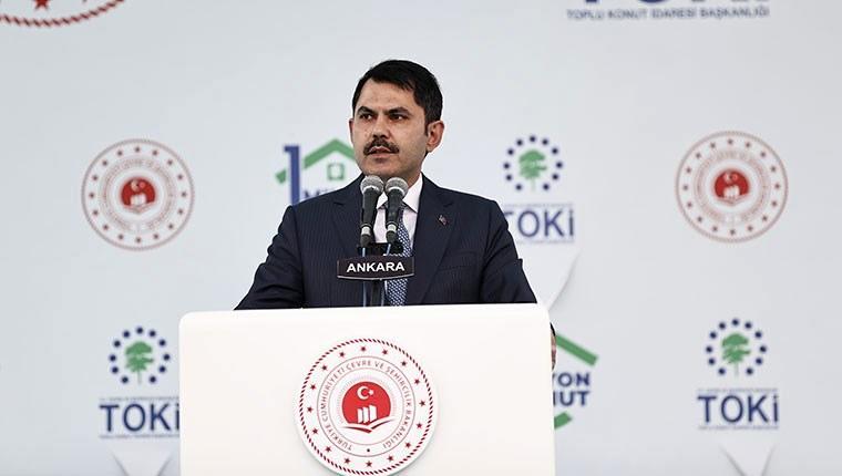 """Bakan Kurum: """"4 bin 400 şantiyemizde 1 milyon konut ürettik"""""""