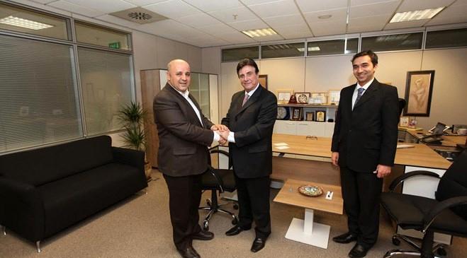 Panagiotis Koutsikos, Vitrin İnşaat'ı ziyaret etti