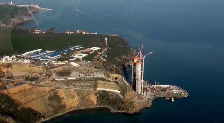 Havadan Yavuz Sultan Selim Köprüsü inşaatı