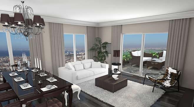 Evim Kadıköy örnek daire görselleri