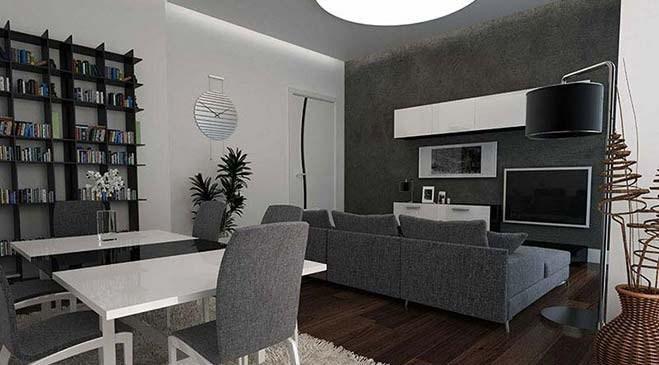 Haliç Rezidans Alibeyköy örnek daire görselleri