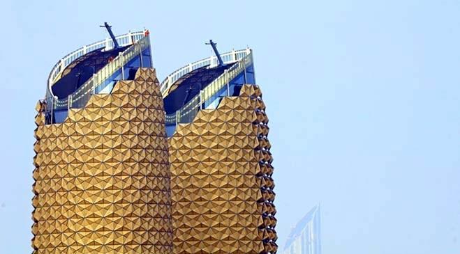 Abu Dhabi'de Al Bahr Kuleleri'nden görseller