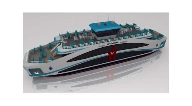 İstanbul'un yeni engelsiz gemilerinin görselleri