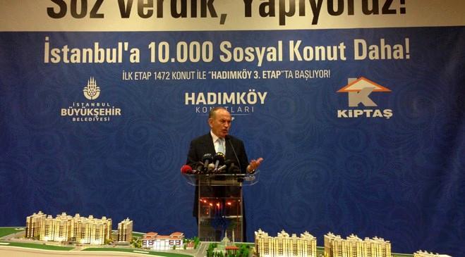 Kiptaş Hadımköy 3. Etap Kadir Topbaş'ın katılımıyla tanıtıldı