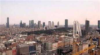 Torun Center'dan İstanbul manzarası