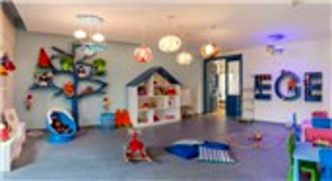 Ege Yakası satış ofisi çocuk oyun alanı