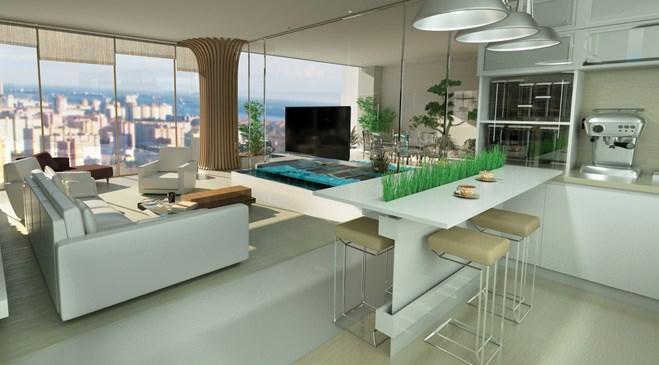 ataköy towers projesinin amerikan mutfağı