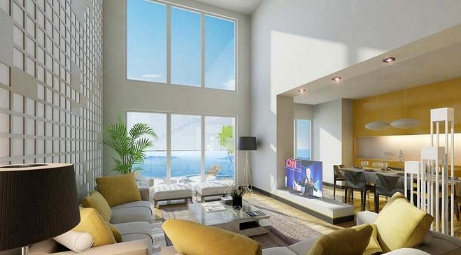 rönesans sayfiye projesinin oturma odası