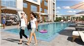 lokum evler projesindeki yüzme havuzu