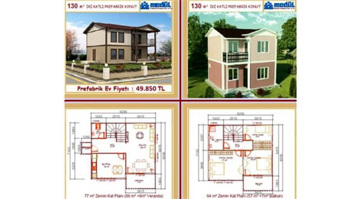 prefabrik ev büyüklükleri