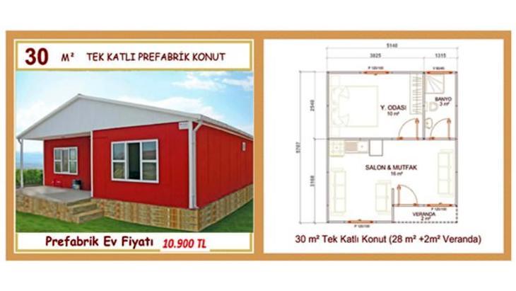 prefabrik ev fiyatları 2015