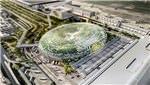singapur, Changi Havalimanı, şelale, havaalanı
