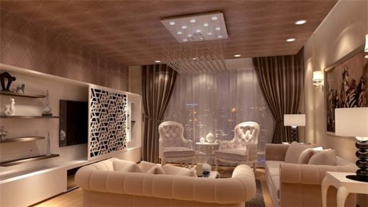 paradise güneşli projesinin salonu