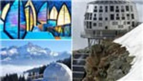 Dünyanın en ilginç dağ evleri, fütüristik dağ evleri, bond filmi dağ evi spectre dağ evi