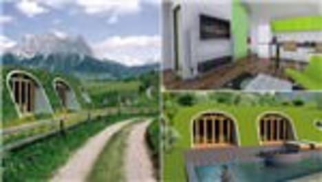Green Magic Homes, Sihirli Yeşil Evler, prefabrik hobbit evi, hobbit evleri, yüzüklerin efendisi