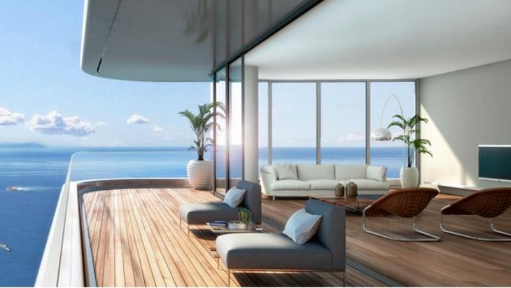 yedi mavi deniz manzarası
