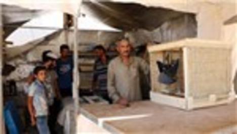 Vantilatör yapan Suriyeli