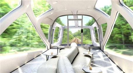 Japonya'da suit odalı tren!