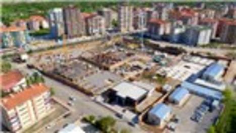 Niğde Emlak Konutları projesinin havadan görüntüleri.