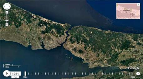 İstanbul'un 32 yıllık değişimi uydudan görüntülendi