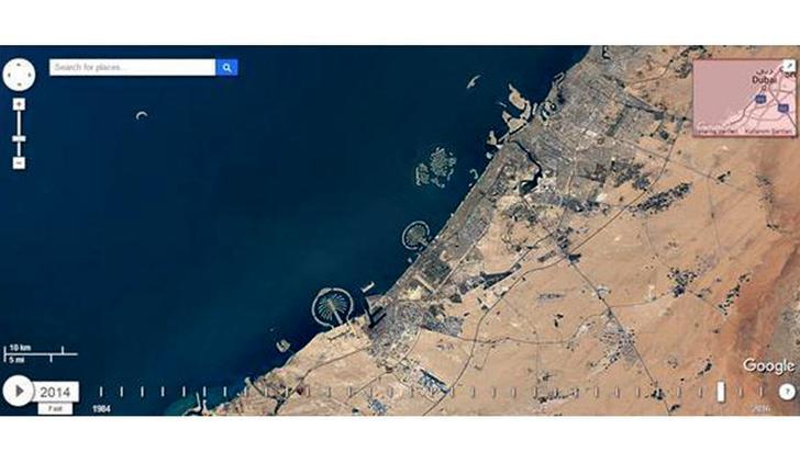 Dubai'nin 32 yıllık değişimi uydudan görüntülendi
